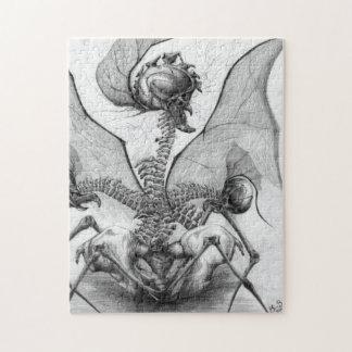 Odd Bone Fellow Horror Monster Original Art Puzzle