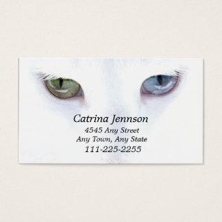 Odd eyed Cat  Business Card