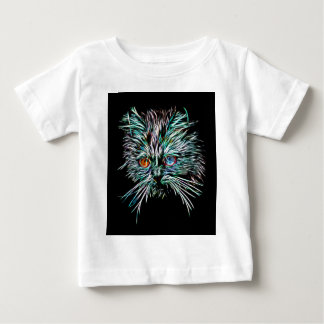 Odd-Eyed Glowing Cat Baby T-Shirt