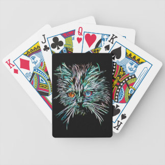 Odd-Eyed Glowing Cat Bicycle Playing Cards