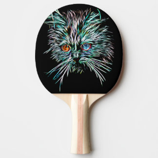 Odd-Eyed Glowing Cat Ping Pong Paddle