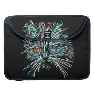 Odd-Eyed Glowing Cat Sleeve For MacBooks