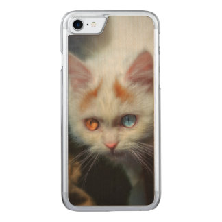Odd-Eyed Persian Kitten Carved iPhone 7 Case