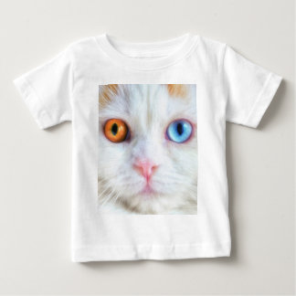 Odd-Eyed White Persian Cat Baby T-Shirt