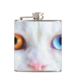Odd-Eyed White Persian Cat Flasks