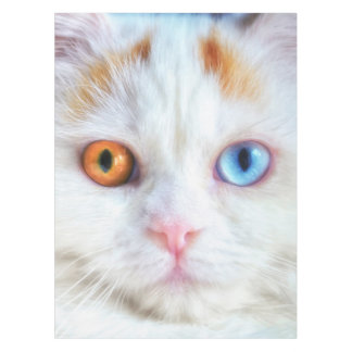 Odd-Eyed White Persian Cat Tablecloth