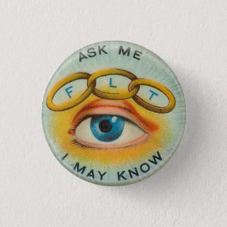 "Odd Fellows ""Ask Me I May Know"" 1 Inch Round Button"