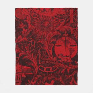 Odd Fellows Woven Tapestry version 1 Fleece Blanket