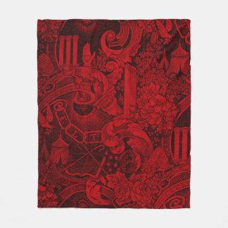 Odd Fellows Woven Tapestry version 2 Fleece Blanket