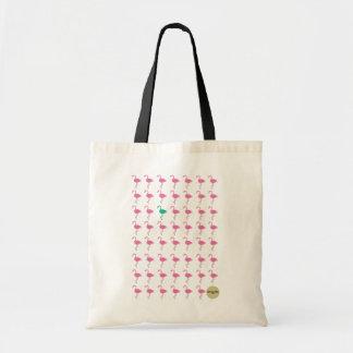 odd flamingo budget tote bag