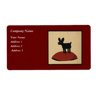Odd Funny Looking Dog - Colorful Book Illustration Shipping Label