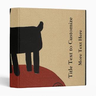 Odd Funny Looking Dog - Colorful Book Illustration Vinyl Binder