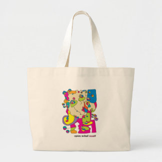 odd funny woman illustration noa israel artist large tote bag