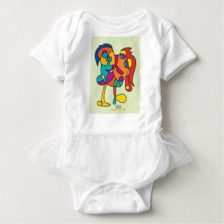 odd happy creatures colorful illustration noa isra baby bodysuit