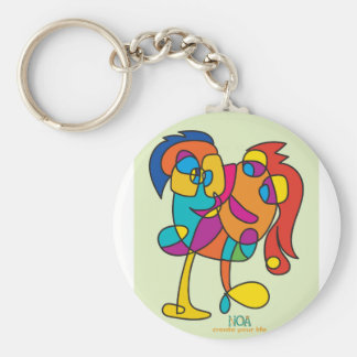 odd happy creatures colorful illustration noa isra keychain
