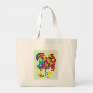 odd happy creatures colorful illustration noa isra large tote bag