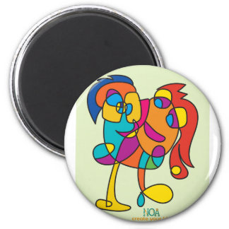 odd happy creatures colorful illustration noa isra magnet