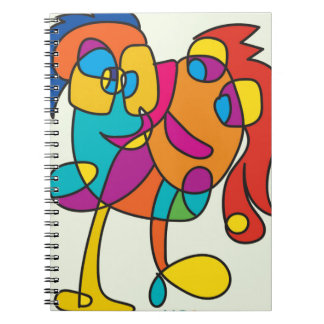 odd happy creatures colorful illustration noa isra notebook