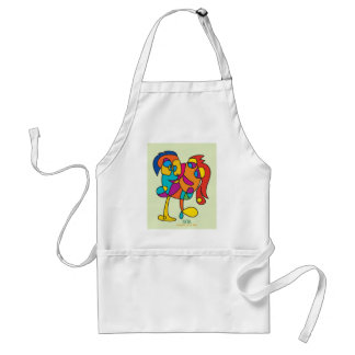 odd happy creatures colorful illustration noa isra standard apron