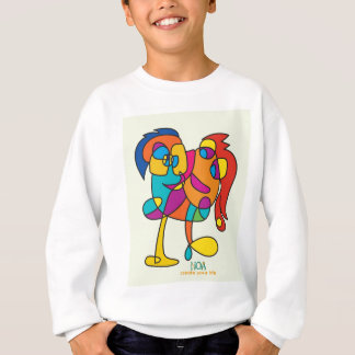 odd happy creatures colorful illustration noa isra sweatshirt