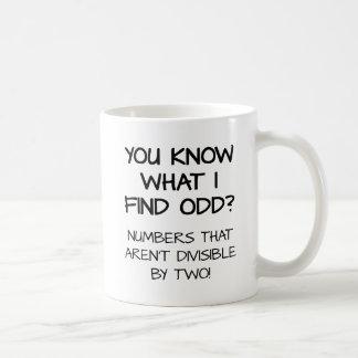 Odd Numbers Funny Mug