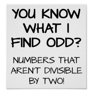 Odd Numbers Funny Poster