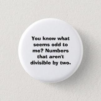 Odd Numbers Math Pun Math Teacher Button