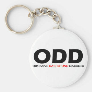 ODD - Obsessive Dachshund Disorder Basic Round Button Keychain