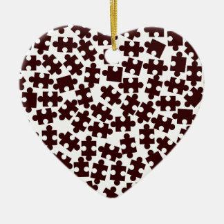 Odd One Out Ceramic Heart Ornament
