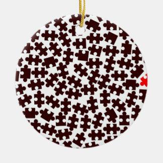 Odd One Out Round Ceramic Ornament