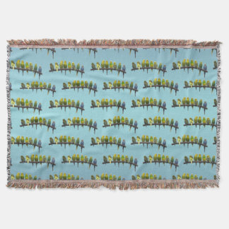 Odd One Out Throw Blanket (Sky Blue Mix)