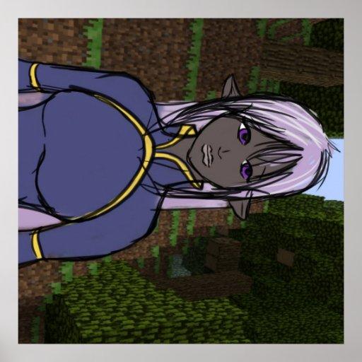 Oddanna in minecraft poster