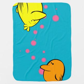 "Oddbird Arts ""Chickpeas!"" Baby Blanket"