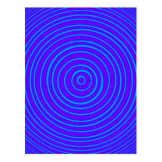 Oddisphere Blue Purple Optical Illusion Postcard