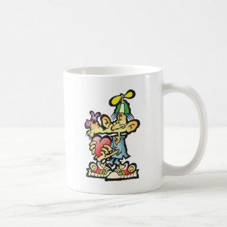 oddley-bodley classic white coffee mug