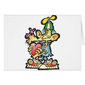 oddley-bodley greeting card