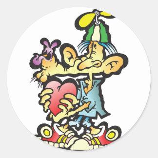 oddley-bodley round sticker