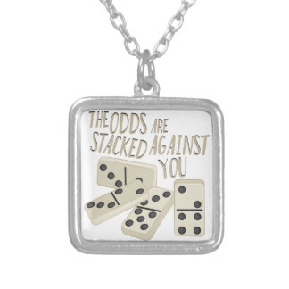 Odds Are Stacked Silver Plated Necklace