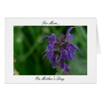 Ode To Mom (Violet Flower) Greeting Card