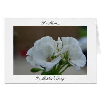 Ode To Mom (White) Greeting Card