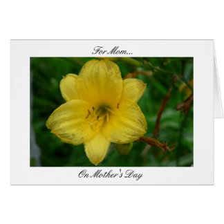 Ode To Mom Yellow Greeting Card