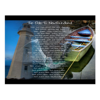 Ode to Newfoundland Postcard
