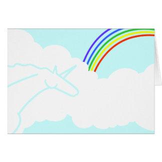 Ode to the '70s Rainbows & Unicorns Birthday Card