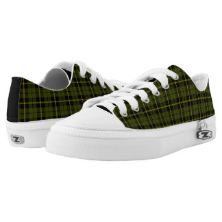 Odee, army, green plaid yellow/black stripe Low-Top sneakers