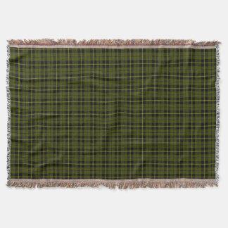 Odee green plaid print, black yellow stripe throw blanket