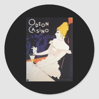 Odeon Casino Classic Round Sticker