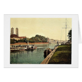 Oder River, with Cathedral Island, Breslau, Silesi Card