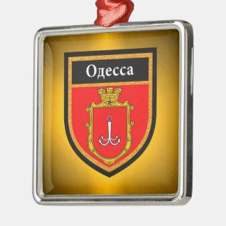 Odessa Flag Metal Ornament