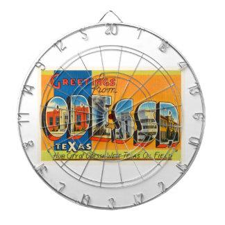 Odessa Texas TX Old Vintage Travel Souvenir Dartboard