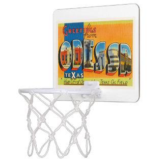 Odessa Texas TX Old Vintage Travel Souvenir Mini Basketball Hoop